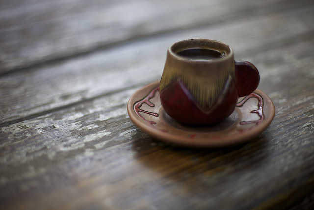 Guests are first welcomed with a round of Armenian coffee served in little demitasse cups. Photo: Raffi Youredjian