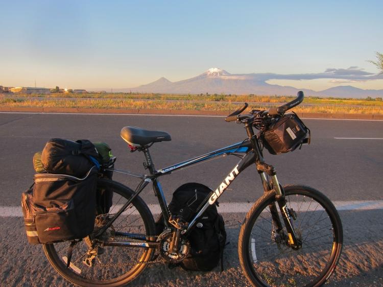 Raffi Youredjian cycles through Armenia on this bike.