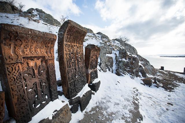 Cross Stones at Lake Sevan