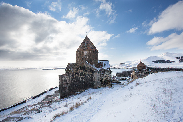 Lake Sevan and 9th c. Monastery
